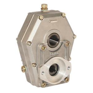 Tandwielkasten type GBR 20ST   Aluminium behuizing   Lichte constructie   Hoog uitgaand koppel   4,8 kg   0,22 l