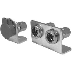 Houder voor snelkoppelingen female, type 905 | Montage met seegerringen | Staal verzinkt
