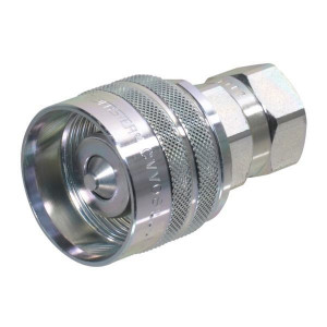 Male inwendige draad BSP | Viton / PTFE | ISO 14541 | Wit gepassiveerd
