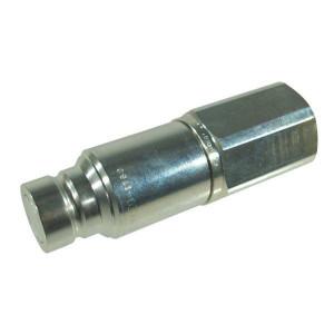Snelkoppeling male 3FFH BSP | Onder restdruk koppelbaar | NBR / PTFE | ISO 16028 | Zink / Nikkel