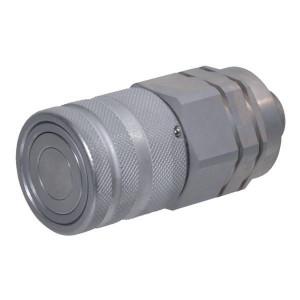 Snelkoppeling vlakdichtend female pijpopname SKV-F | NBR / PTFE | ISO 16028 | Zink / Nikkel