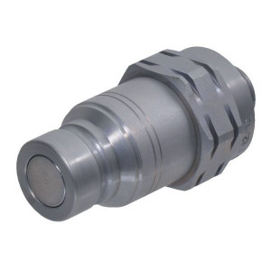 Snelkoppeling vlakdichtend male pijpopname SKV-M | NBR / PTFE | ISO 16028 | Zink / Nikkel