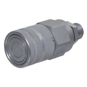 Snelkoppeling vlakdichtend female pijpopname schot SKV-F | NBR / PTFE | ISO 16028 | Zink / Nikkel