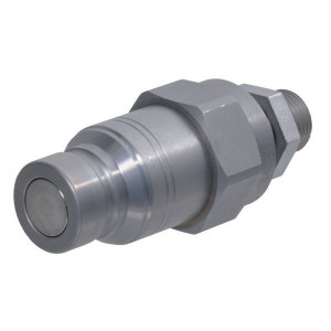 Snelkoppeling vlakdichtend male pijpopname schot SKV-M | NBR / PTFE | ISO 16028 | Zink / Nikkel