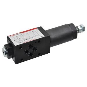Cetop 03 reduceerventiel KRMPR | 3-weg voorgestuurd | Stabiele werking | Geschikt voor tussenbouw | Systeemdruk verlagen | Max. 40 l/min