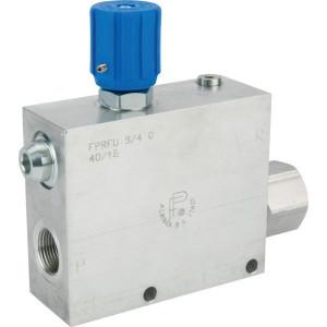 "3-Weg Stroomregelventiel type FPRFU 250 Bar | Max. druk: 250 Bar. | 3/8""3/4"" BSP | Aluminium"