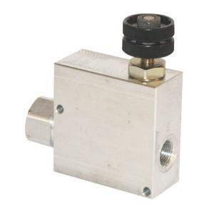 3-Weg stroomregelventiel type VPR ET | BSP-binnendraad | Grofafstelling | Aluminium
