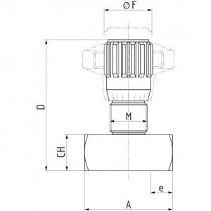 Smoring 1 stromingsrichting FT 257/5 met kunststof handknop