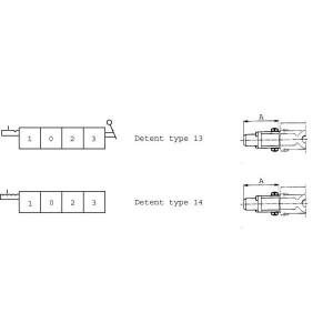 Arretering type 13/14 SD-ventiel Walvoil