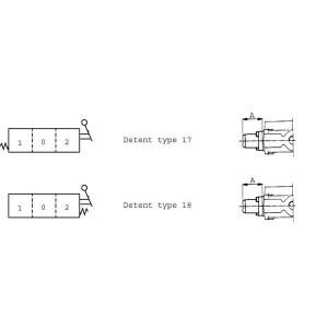 Arretering type 17/18 SD-ventiel Walvoil