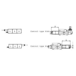 Bediening hydraulisch t.b.v. SD-ventiel