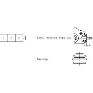 Stof en eindkappen type SD-ventiel