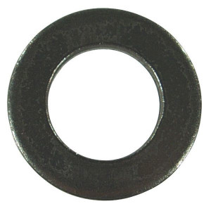 DIN 125A Vlakke sluitringen zonder facet zwart