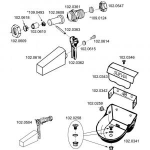 Onderdelen voor drinkbak model 130