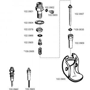 Onderdelen voor drinkbak model 90