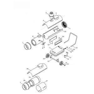 Luchtverhitters frame KA 20 / KA 40 / KA 70