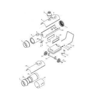 Luchtverhitters frame KAI 20 / KAI 35 / KAI 65