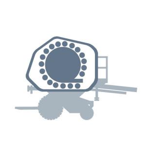 12de rol onder inlaatstroom passend voor Claas Rollant 255-250 Uniwrap