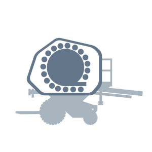 2de rol onder inlaatstroom passend voor Claas Rollant 255-250 Uniwrap