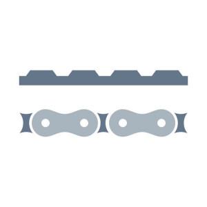 Dubbele riemaandrijving passend voor Claas Variant 385-380/RF/RC