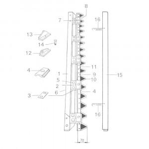 Ziegler (Mörtl) Onderdelen v. scheidingsmaaibalk RT 120