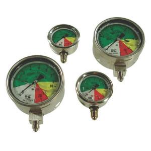 Wika manometer met onderaansluiting