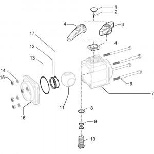 Arag onderdelen 4530 . 5 X 66 (3- weg)