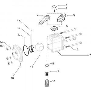 Arag onderdelen 4530 . 6 X 77 (3- weg)