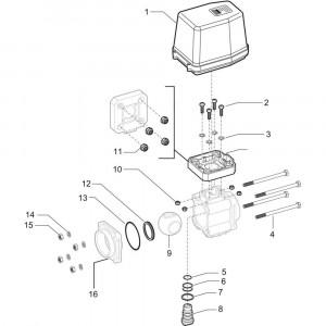 Arag onderdelen 4537 . 4 A . . T (3- weg, elektr.)