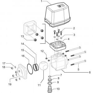 Arag onderdelen 4537 . 5 X 66T (3- weg, elektr.)