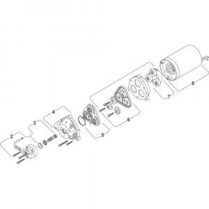 Shurflo pomp onderdelen DIP8000541236 - 12V 3,4 L