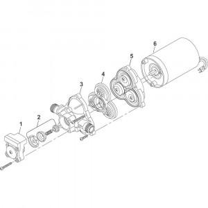 Shurflo pomp onderdelen DIP2088474144 - 24V 11,4 L