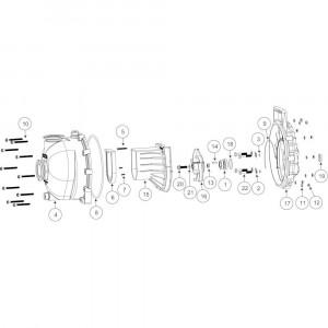 """Onderdelen passend voor Banjo centrifugaalpomp met benzinemotor 2"""" flens"""