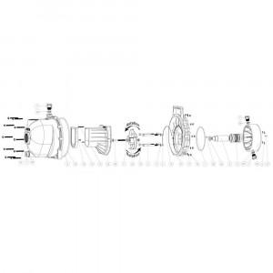 """Onderdelen passend voor Banjo centrifugaalpomp (vloeistofafdichting) 2"""" draad"""