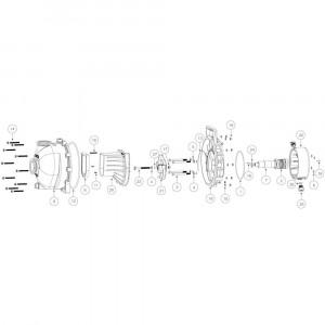 """Onderdelen passend voor Banjo centrifugaalpomp (vloeistofafdichting) 2"""" flens"""