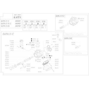 Reserveonderdelen geschikt voor pomp Udor Kappa 33