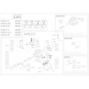 Reserveonderdelen geschikt voor pomp Udor Kappa 43/53