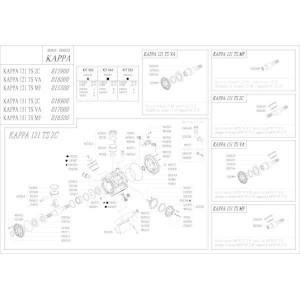 Reserveonderdelen geschikt voor pomp Udor Kappa 121/151