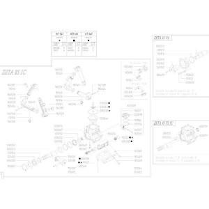 Reserveonderdelen geschikt voor pomp Udor Zeta 85
