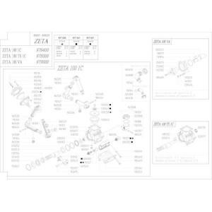 Reserveonderdelen geschikt voor pomp Udor Zeta 100