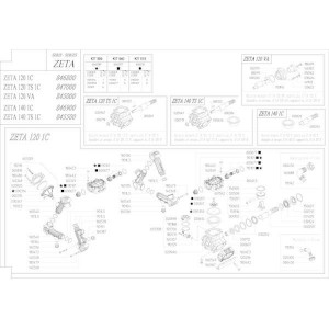 Reserveonderdelen geschikt voor pomp Udor Zeta 120/140