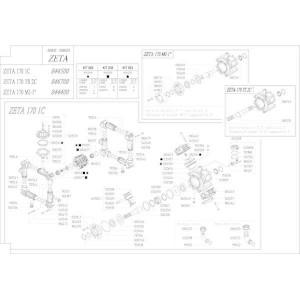 Reserveonderdelen geschikt voor pomp Udor Zeta 170