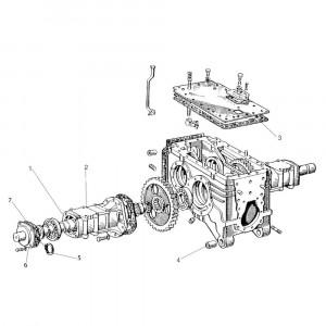Achterasaandrijving passend voor Belarus MTS 510/520