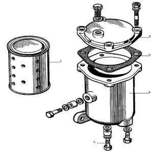 Brandstoffilter (fijn) passend voor Belarus MTS 570/572