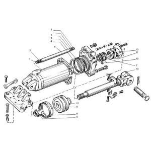 Hefcilinder passend voor Belarus MTS 570/572