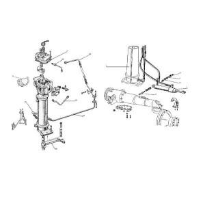 Vooras met hydrauliekcilinder geschikt voor Belarus MTS 890/892