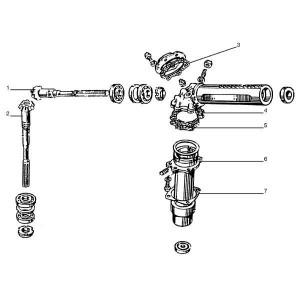 4WD Aandrijfas passend voor Belarus MTS 950/952