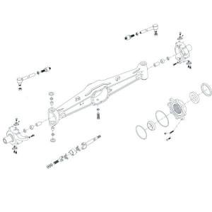 Vooras 4WD passend voor Case IH 833