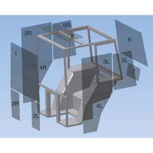 Glas passend voor Case IH CX80