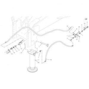 002 Parkeerstandaard hydraulisch passend voor DEUTZ-FAHR BIGMASTER 578